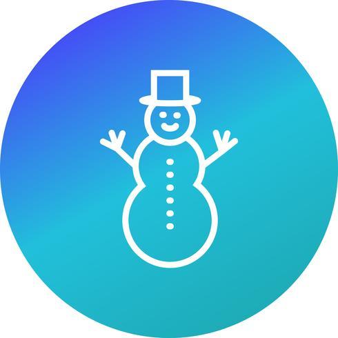 Icono de Vector de muñeco de nieve