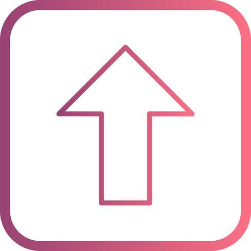 Upp vektor ikon