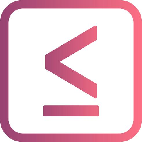 lessthen vector pictogram