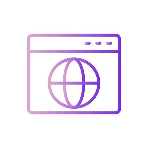 Vector browser pictogram