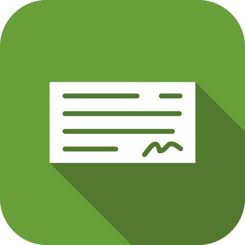 Icono de verificación de vectores