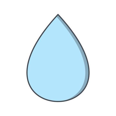 Icona di vettore di goccia di pioggia