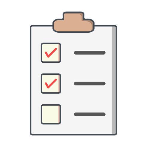 Ícone de lista de verificação de vetor
