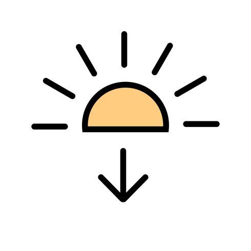 Ícone do vetor de pôr do sol