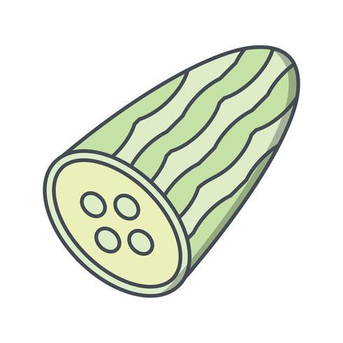 Icona di cetriolo vettoriale