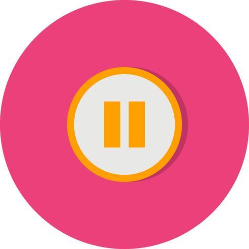 Pause-Vektor-Symbol