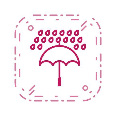 Umbrella And Rain Vector Icon