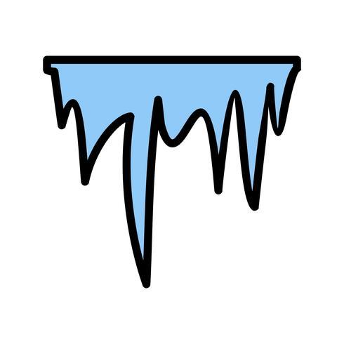 Icona di vettore di ghiacciolo