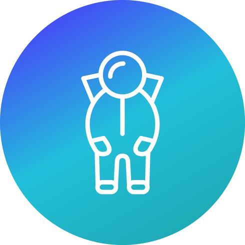 Raumanzug-Vektor-Symbol