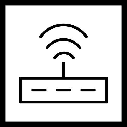 Ícone de roteador de vetor