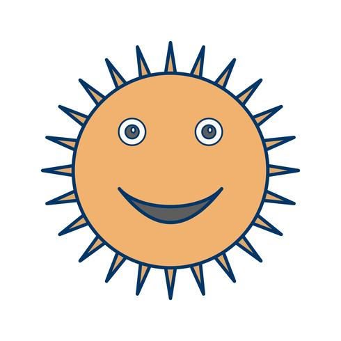 Zon glimlachend Vector pictogram