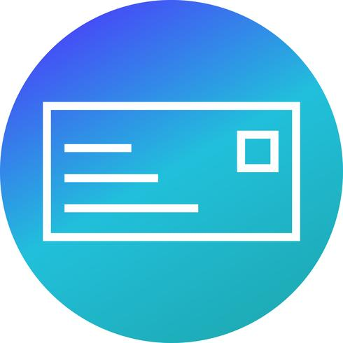 Vector icono de tarjeta de identificación