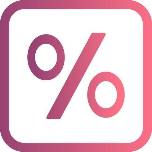 Prozentsatz-Vektor-Symbol