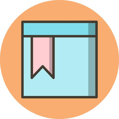 Vector Bookmarked Page Icon