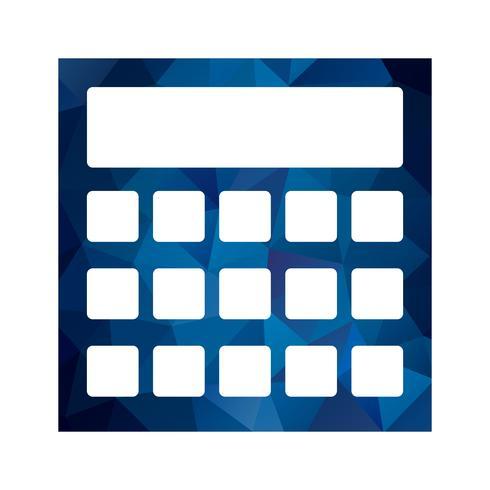 Icono de cálculo vectorial vector