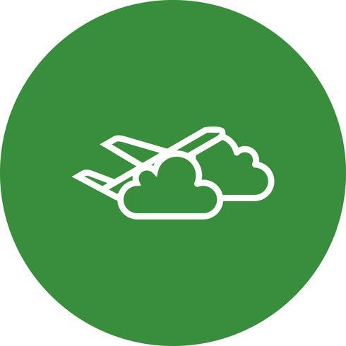 Icona di vettore della nuvola piana