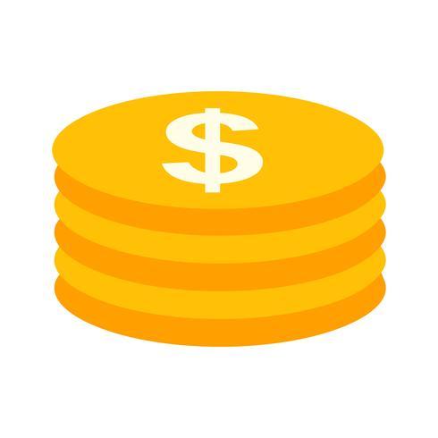 Vektor Mynt Ikon