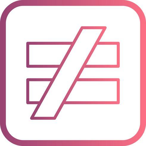 icono de vector de notequalto