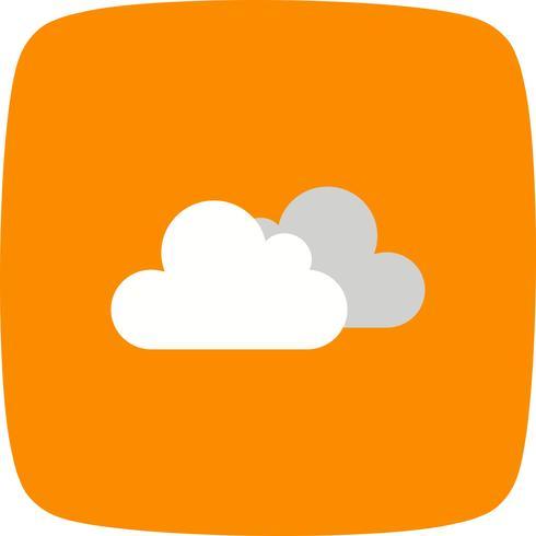Icono de vector nublado