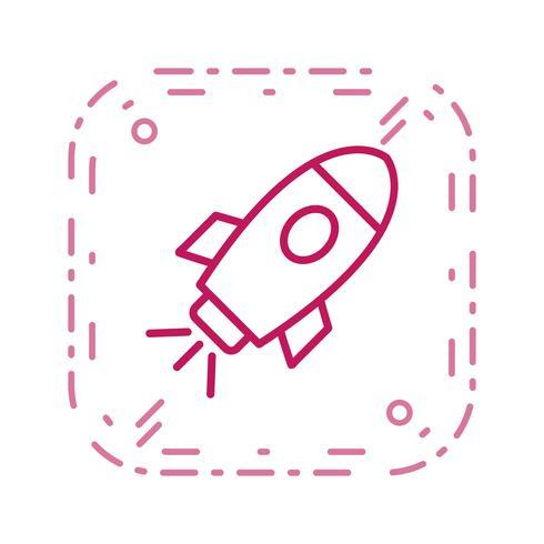 Ícone de vetor de nave espacial