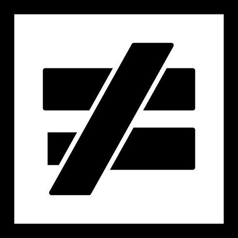 icône de vecteur notequalto