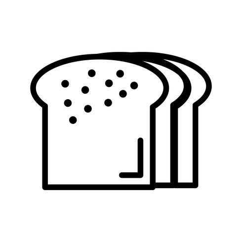Icône de pain de vecteur