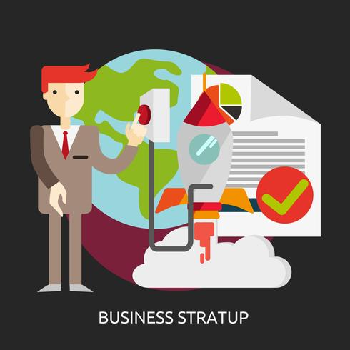 Business Startup Konceptuell illustration Design