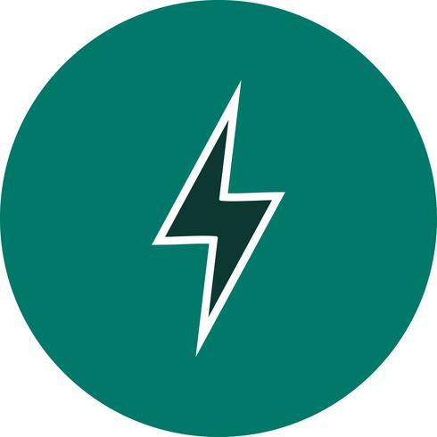 Icona di vettore del pulsante di fulmine
