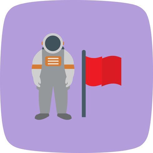 Mann mit Flagge Vektor Icon