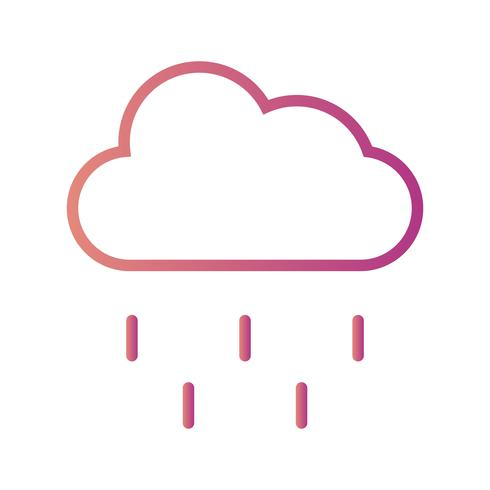 Regn vektor ikon