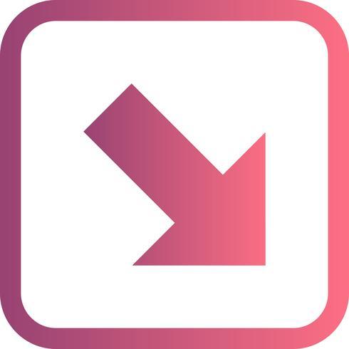 Icono de Vector de abajo a la derecha