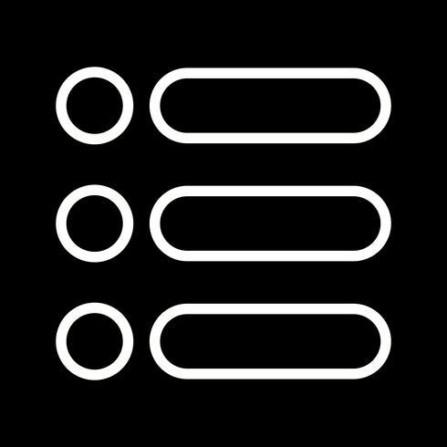 Lijst Vector Icon