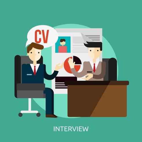 Interview Conceptual illustration Design vector