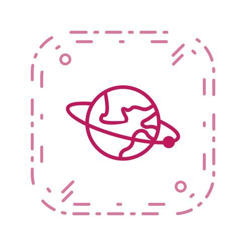 Orbita em torno do ícone do vetor da terra