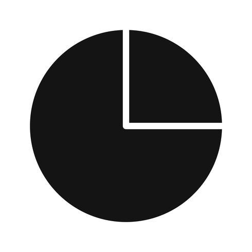 Vektor-Kreisdiagramm-Symbol vektor