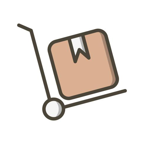 Vector icono de carretilla