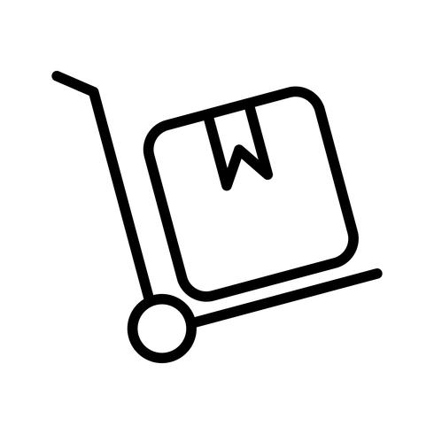 Vector Trolley pictogram