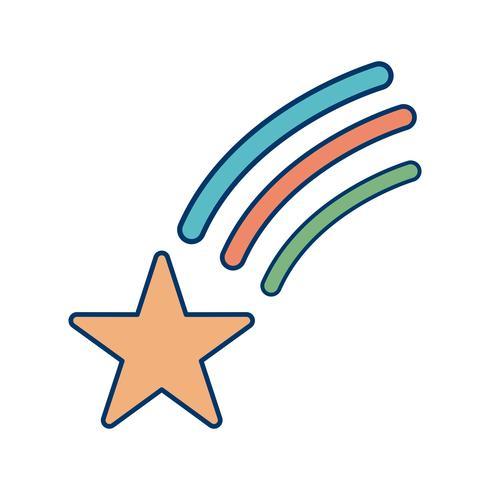 Fallande stjärna vektor ikon