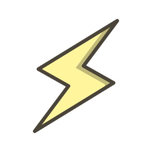 Icono de Vector de botón de rayo