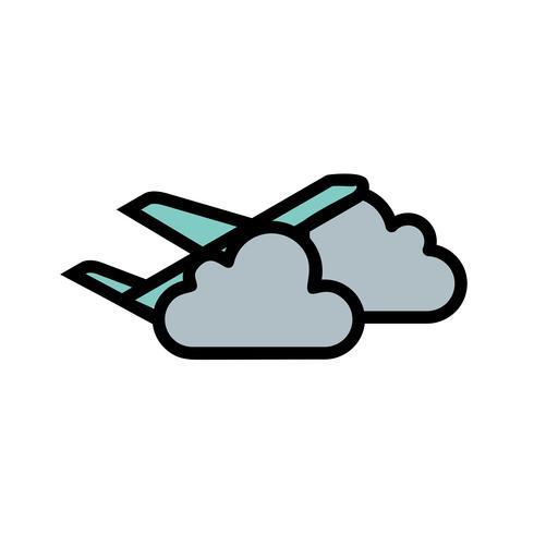 Plane cloud Vector Icon