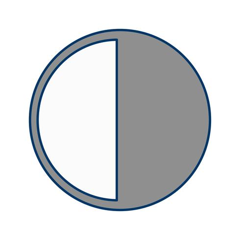 laatste kwartaal vector pictogram