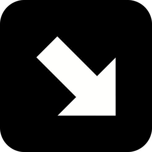 Rechts omlaag Vector pictogram