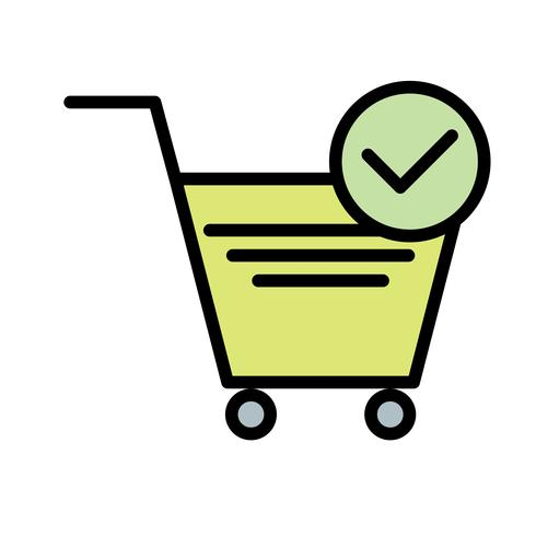 Vector Verified Cart Items-Symbol