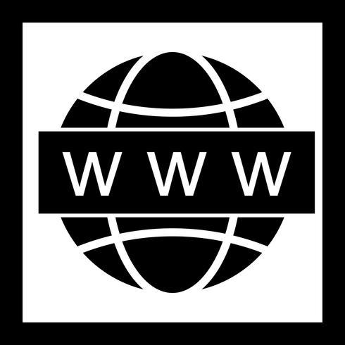 Vector icono de búsqueda web