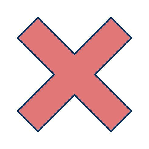 Vektor Abbrechen Symbol