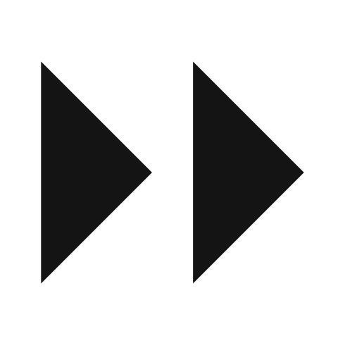 Vector Forward pijlen pictogram