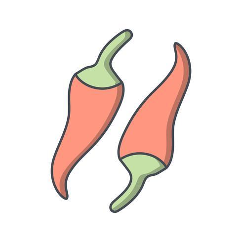 Icône de poivre de vecteur