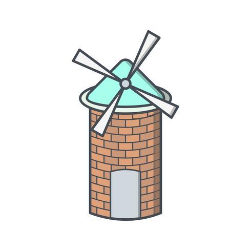 Winderig Vector-pictogram