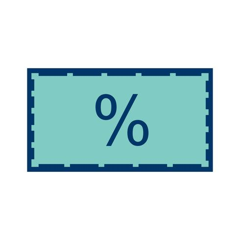 Vector korting pictogram