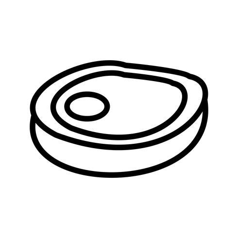 Vector Steak pictogram